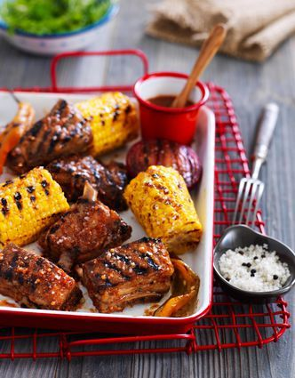 Travers de porc au barbecue marin s au sel de gu rande sauce au sirop d 39 rable recette bbq - Cuisiner travers de porc ...