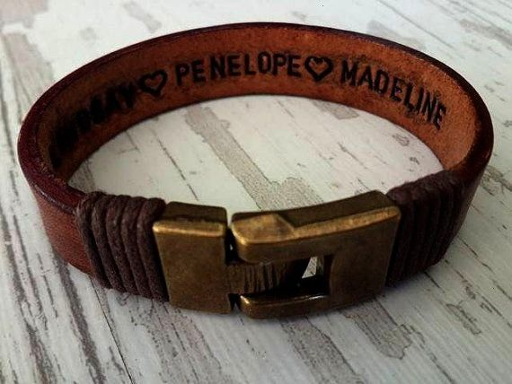 I found this really awesome Etsy listing at Hey I found this really awesome Etsy listing at  christmas gift 2019  Mens Leather Bracelet Personalized Gift For HimGift Leat...