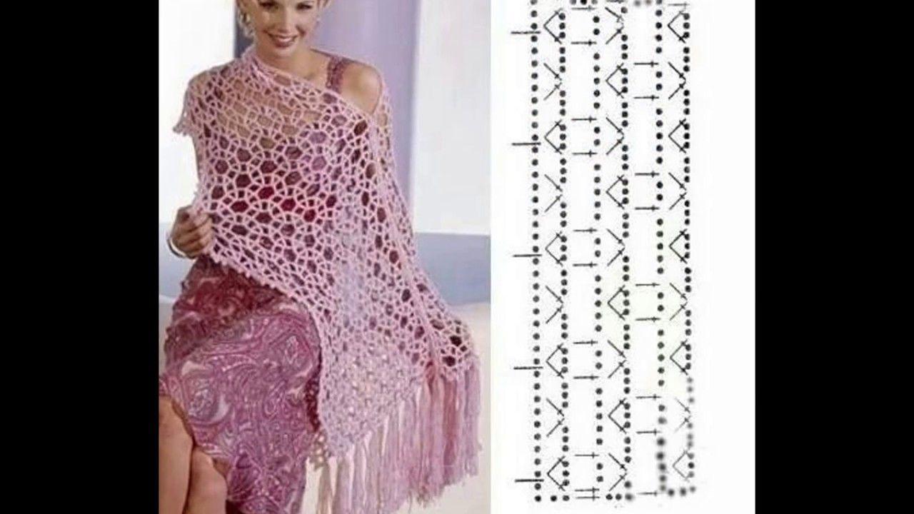 Patrones de chal tejidos | CROCHET Y PUNTO | Pinterest | Chal ...