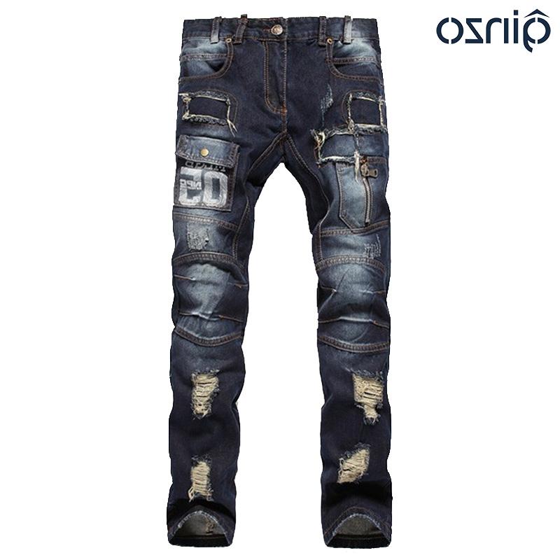 33.15$ Buy here - https://alitems.com/g/1e8d114494b01f4c715516525dc3e8/?i=5&ulp=https%3A%2F%2Fwww.aliexpress.com%2Fitem%2FMen-s-hole-patch-ripped-jeans-Slim-fit-patchwork-print-denim-pants-Fashion-zipper-pocket-long%2F32474120947.html - Men's hole patch ripped jeans Slim fit patchwork print denim pants Fashion zipper pocket long trousers