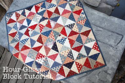 Diary of a Quilter - a quilt blog: Hour Glass Block tutorial