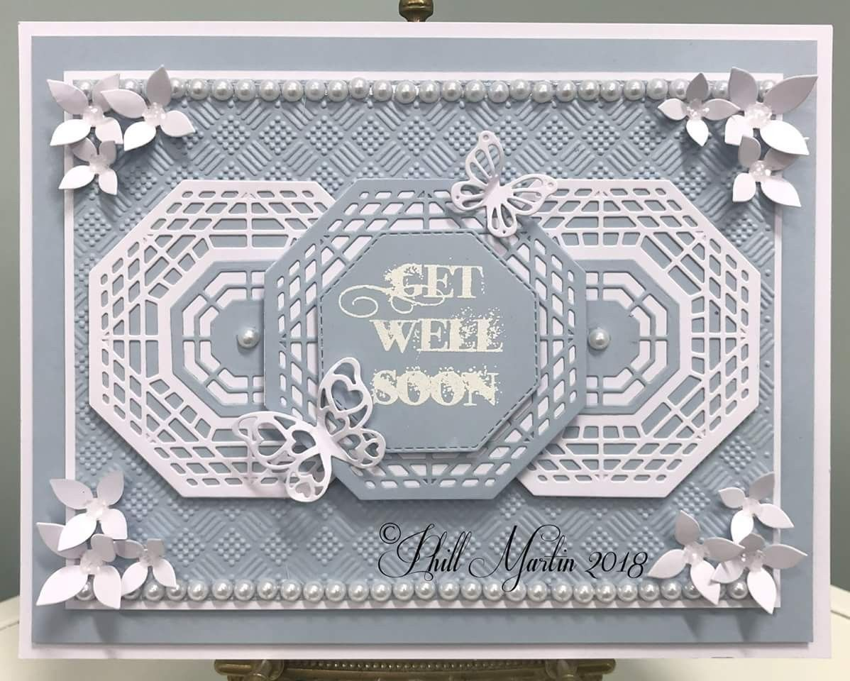 Pin By Diane Pitzl On Sue Wilson Cards Hexagon Cards Get Well