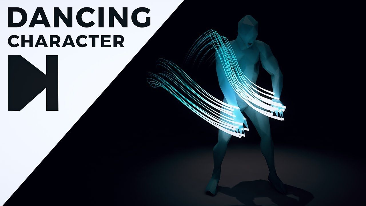 Cinema 4D Tutorial - Dancing Character With Glowing Trails | 05_C4D