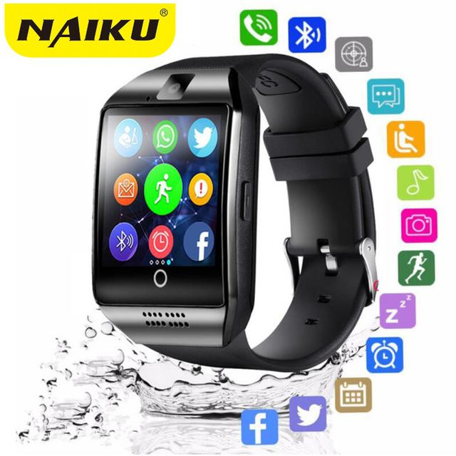 Bluetooth Smart Watch men Q18 With Camera Facebook