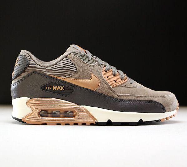 Nike Air Max 90 Leather Iron Metallic Red Bronze Sail