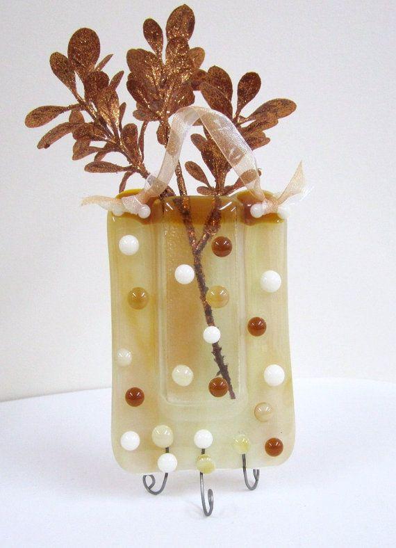 Woodsy Fused Glass Pocket Vase Wall Pockets Pinterest Glass
