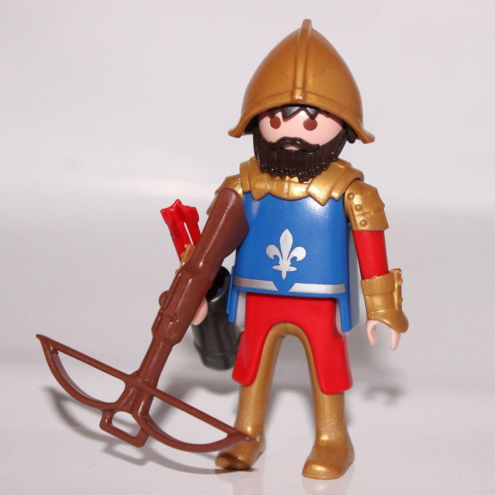 playmobil chevalier lys bleu et or 2 - Playmobile Chevalier