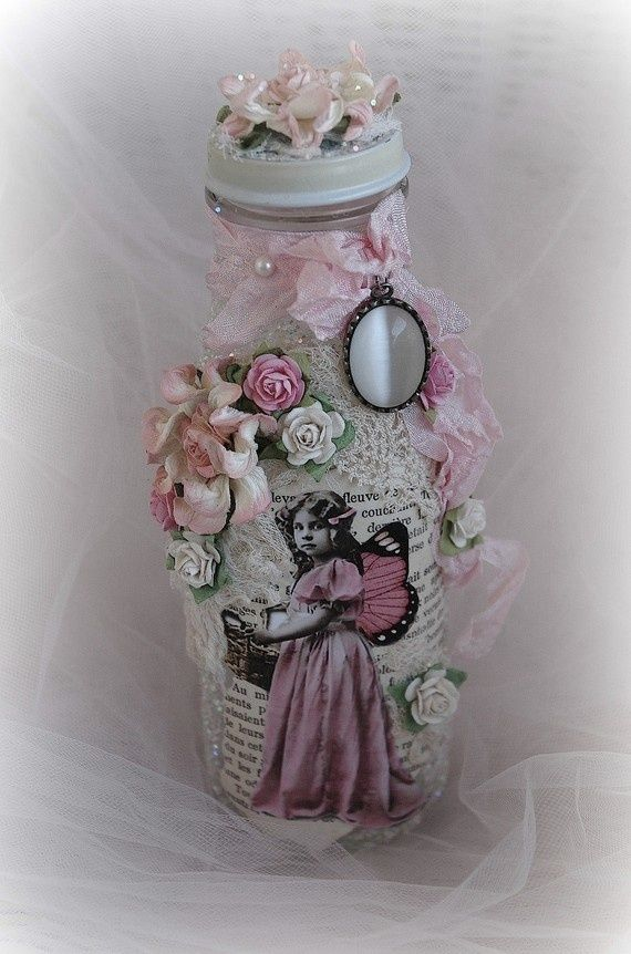 Ideas para decorar botellas eltallerdejazmin shabby chic - Decorar estilo shabby chic ...
