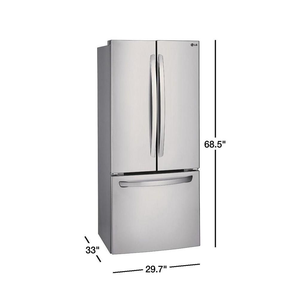 Lg Electronics 30 In W 21 8 Cu Ft French Door Refrigerator In