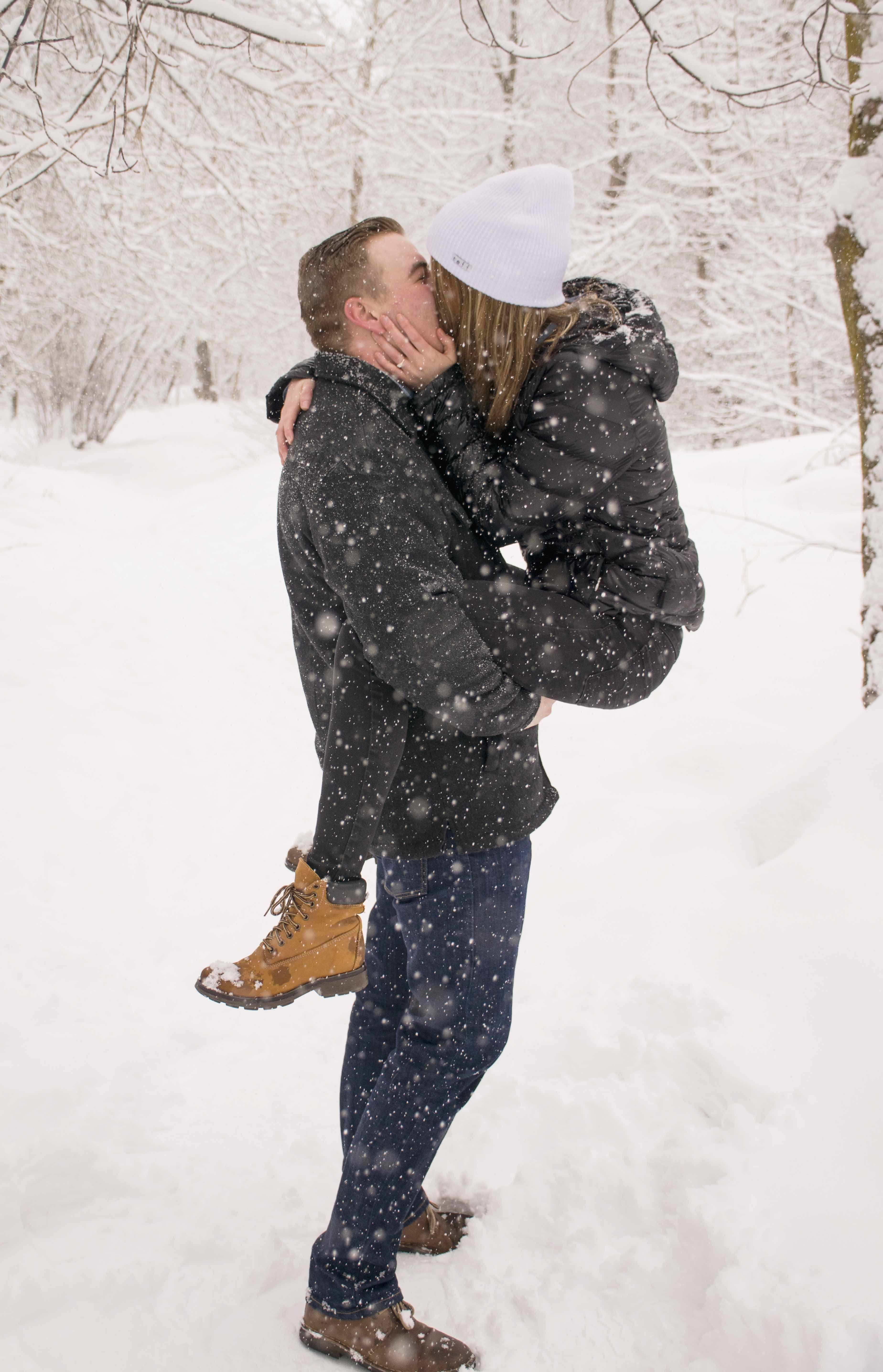 фото пар зимой со спины красивые необыкновенные