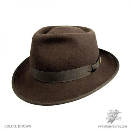 Indiana Jones Kids Crushable Wool Fedora Hat  8ee3c39ec56
