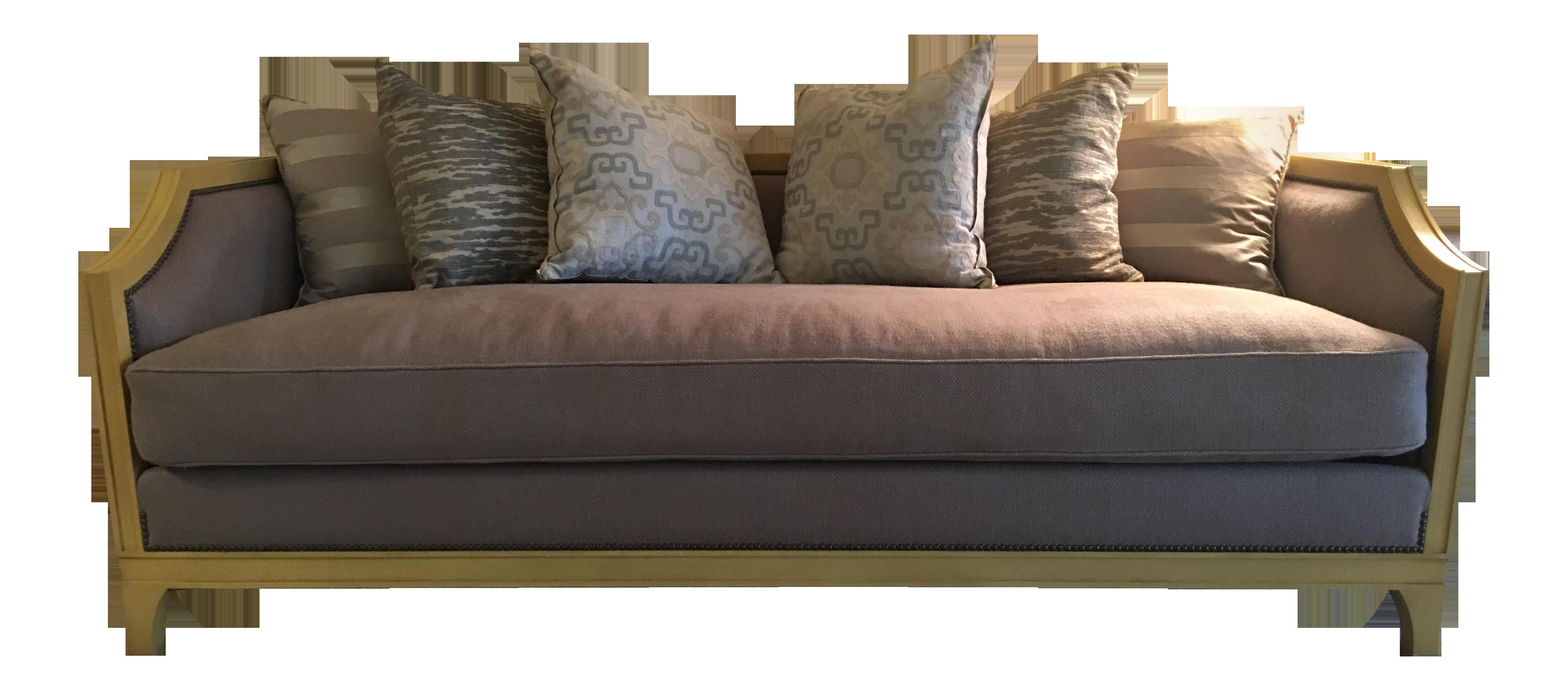 Custom Settee Sofa With Pillows