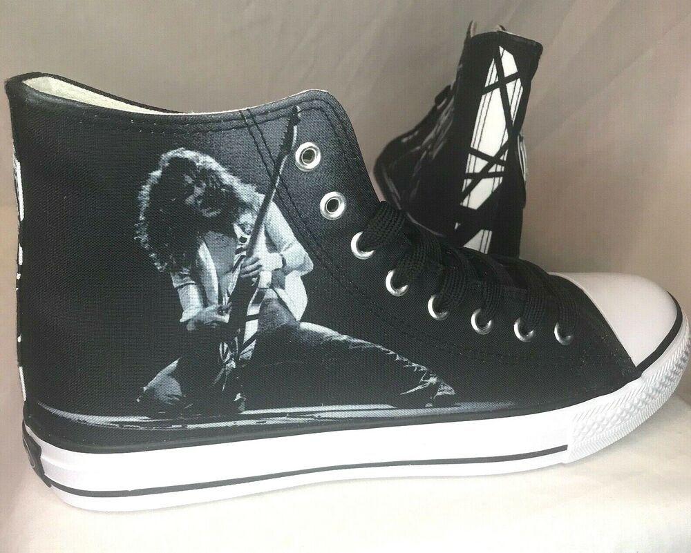 Ebay Ad Authentic Evh Eddie Van Halen 1978 High Top Sneakers Size 10 Brand New W Box High Top Shoes Sneakers Vintage Adidas