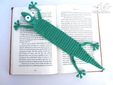 Amigurumi Gecko Lesezeichen Häkelanleitung Häkeln Stricken