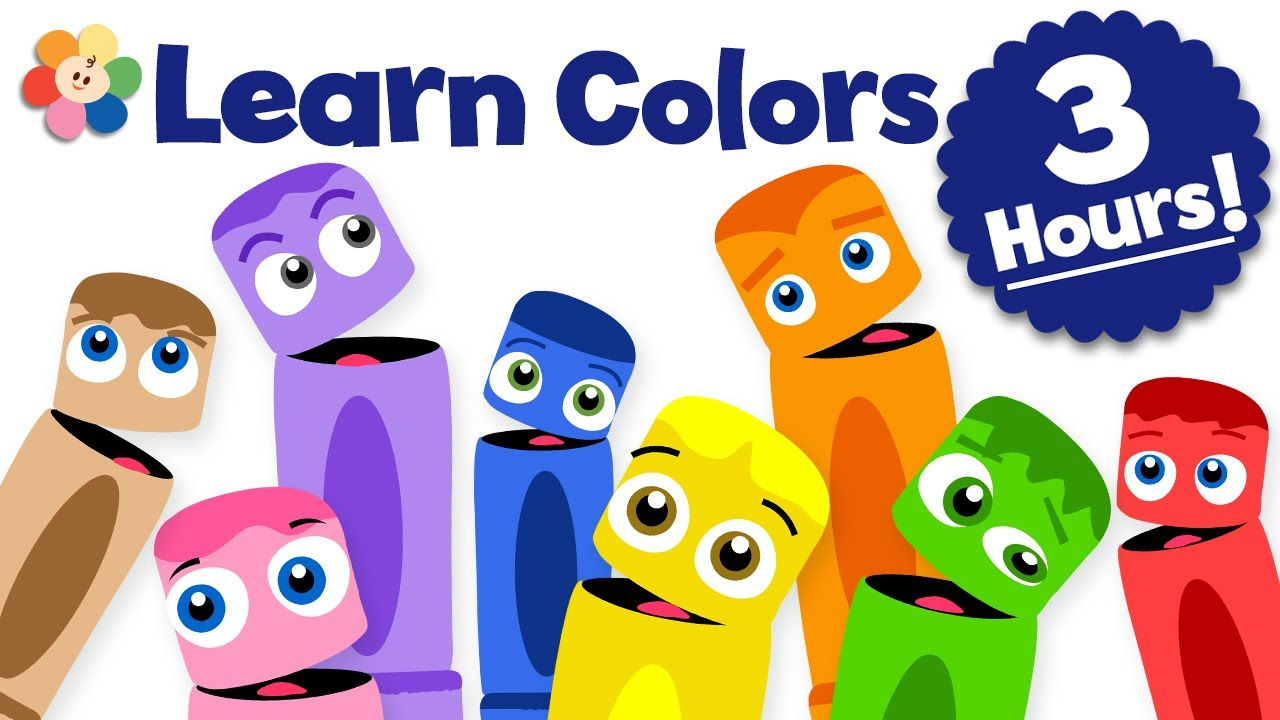 Learn Colors for Kids 3 Hour Children Shows Compilation