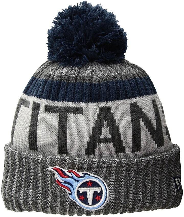 28c018bb06db8 New Era NFL17 Sport Knit Tennessee Titans Knit Hats
