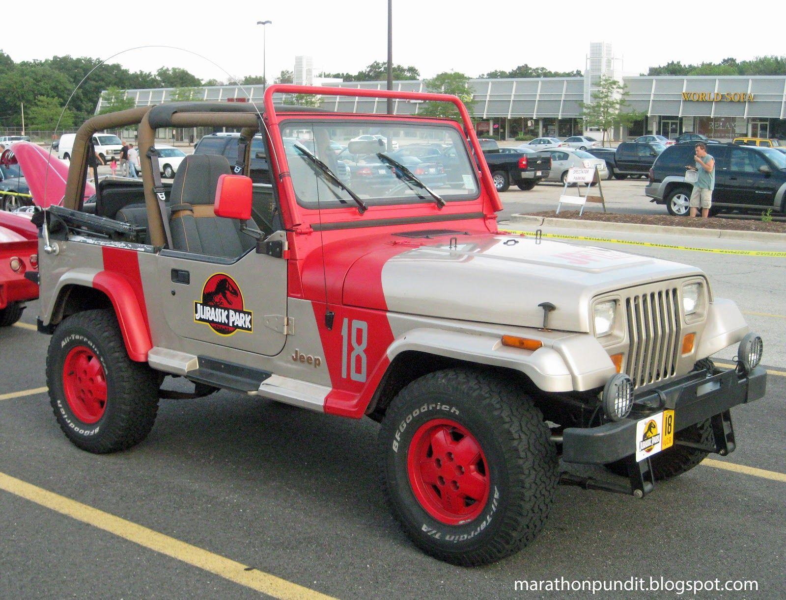 jurassic park jeep wrangler at the morton grove classic car show