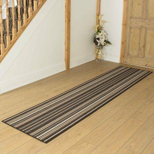 Photo of Innen-/Außenteppich Ainsley in Braun Marlow Home Co. Teppichgröße: Läufer 80 cm x 210 cm