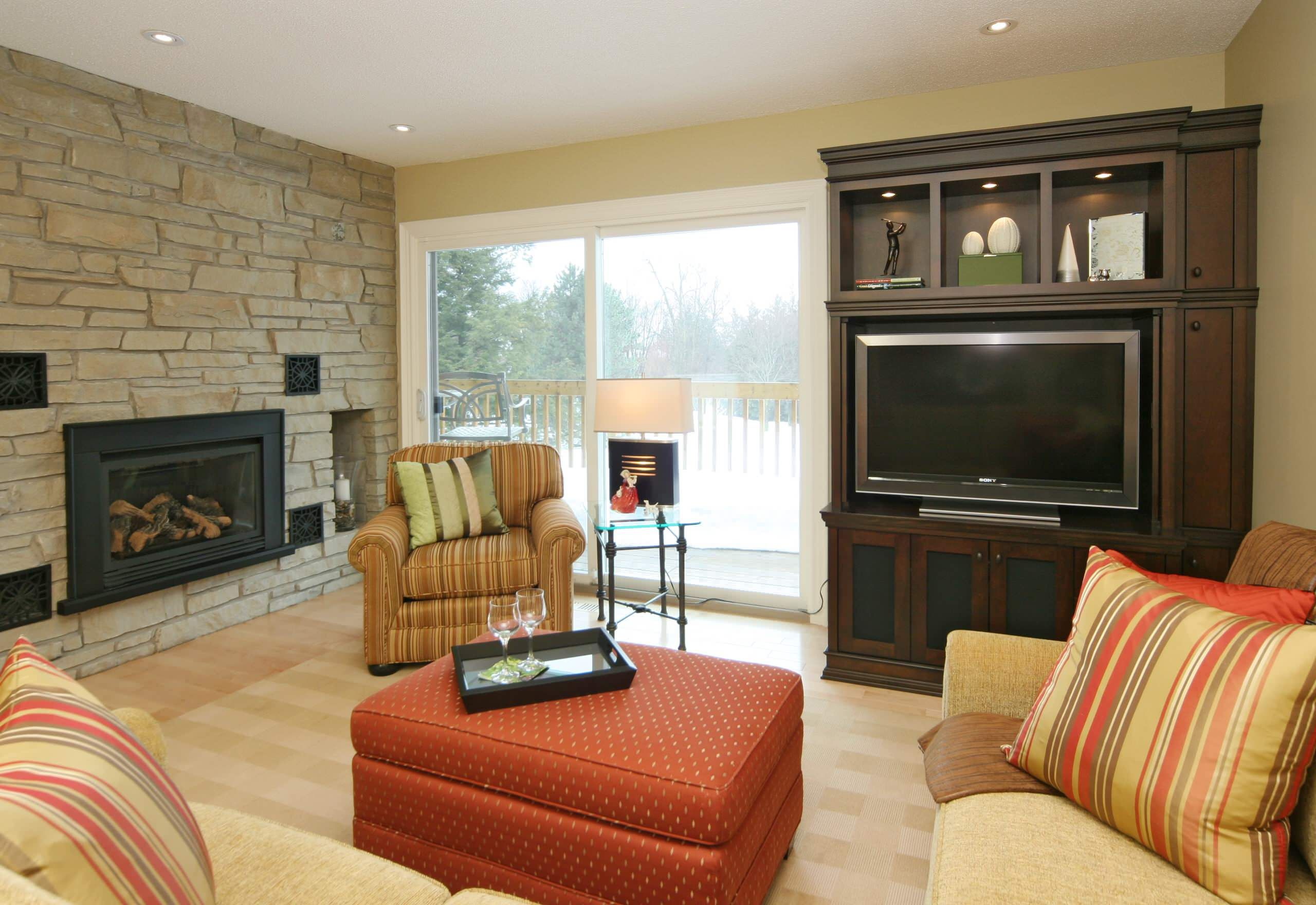 traditional family room designs. Traditional Family Room Designs With Cream Sofa And Red Coffee Table T