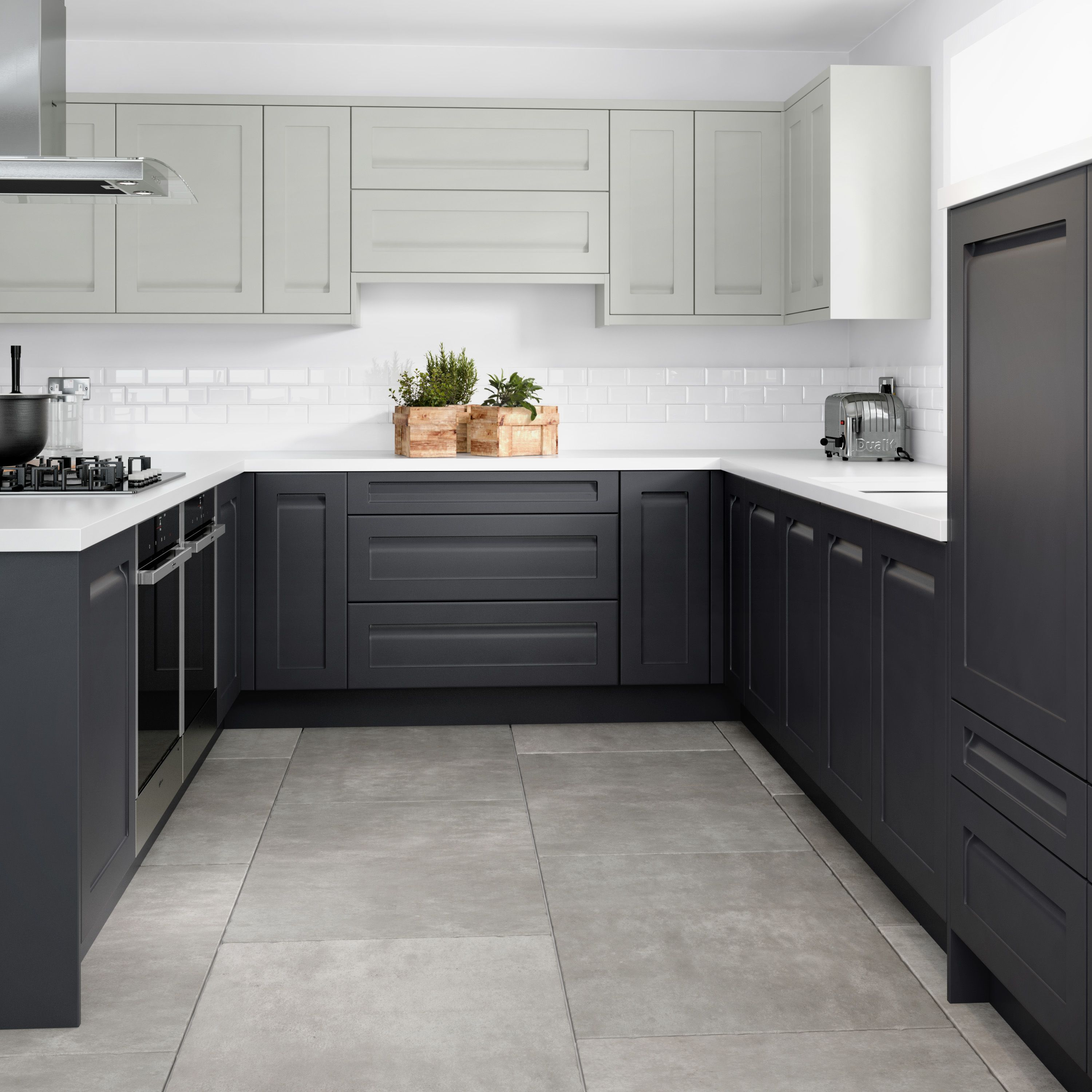 English Rose Anthracite Grey Fitted Kitchen Kitchen Inspiration Design Kitchen Redesign Grey Kitchen Cupboards