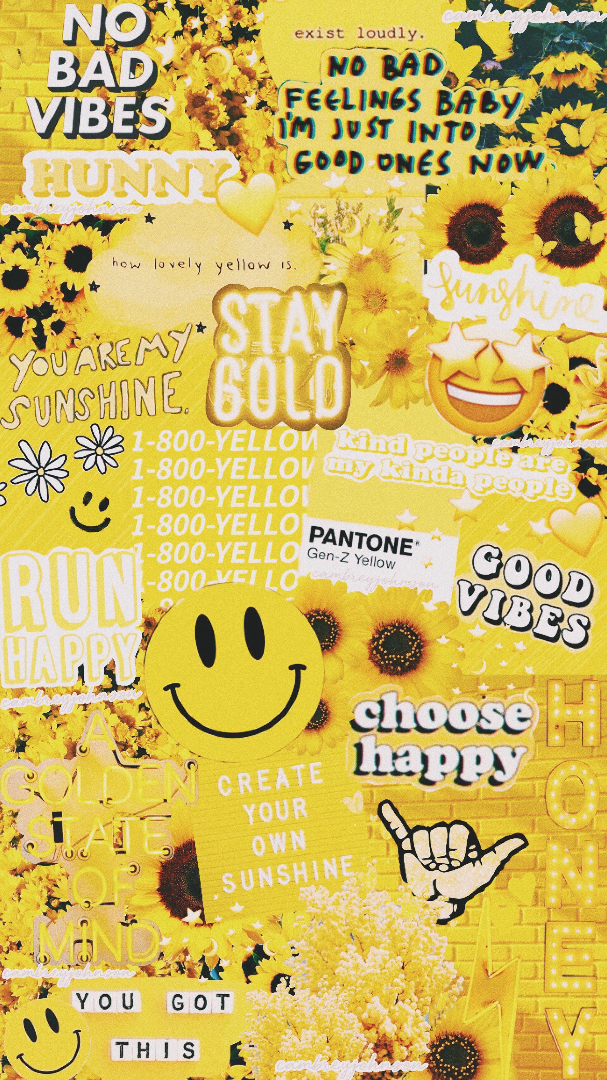 Yellow Pastel Aesthetic Wallpaper