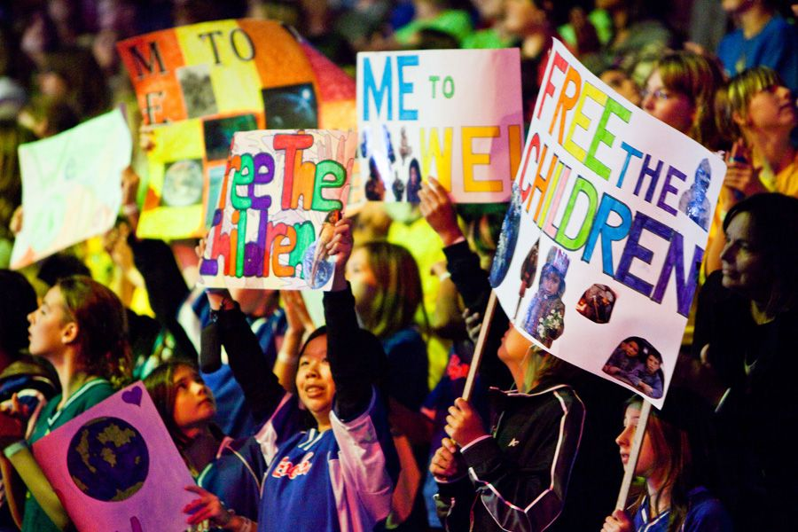 We Day Children charity, Blog, Kids face paint