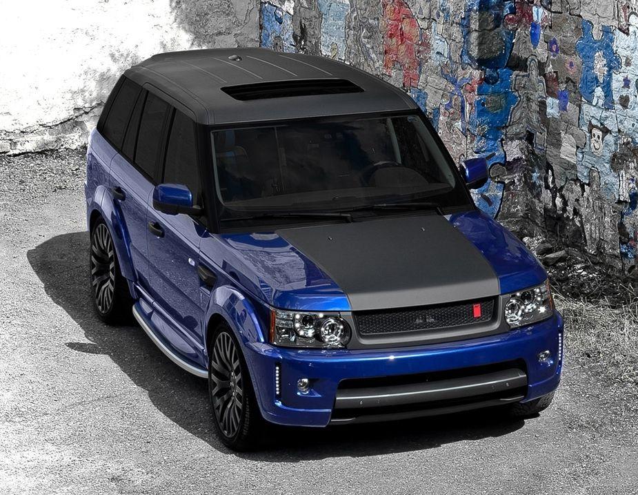 Range Rover Sport Supercharged Bali Blue Myagi Edition By Kahn Design Range Rover Sport Range Rover Matte Black Cars