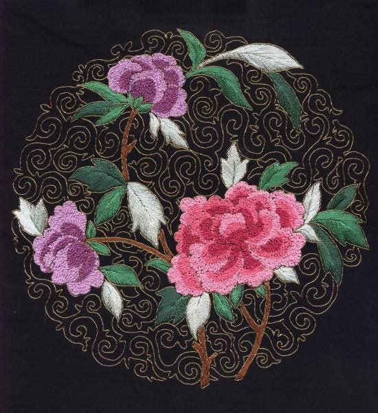 I Embroidery    Chinese Embroidery Flowers Are Chinese