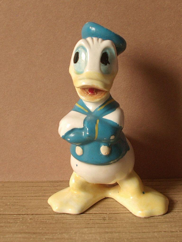 74243c23ef10f vintage Disney figurine, Donald Duck, 1950's 1960's, bisque, sailor ...