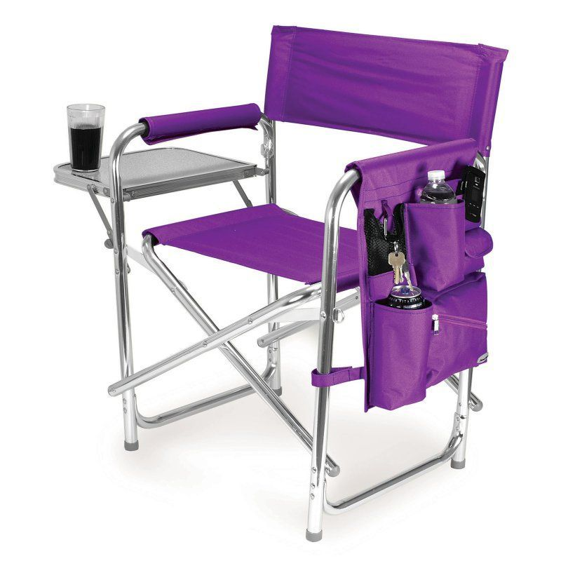 Outdoor Picnic Time Sports Directors Chair Purple - 809-00-101-000-0