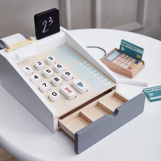 caisse enregistreuse en bois jouets en bois caisse. Black Bedroom Furniture Sets. Home Design Ideas