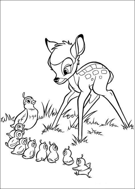 Bambi Ausmalbilder 10 Sablon Pinterest Coloring Pages
