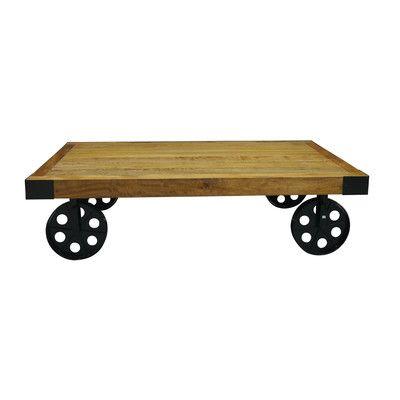 Keysville Coffee Table Coffee Table With Wheels Table Vintage Industrial