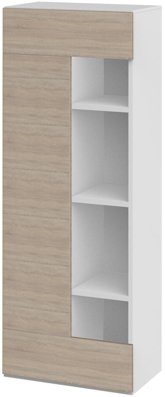 Highboard Weiss/ Dakota Eiche Woody 129-00246 modern Jetzt bestellen