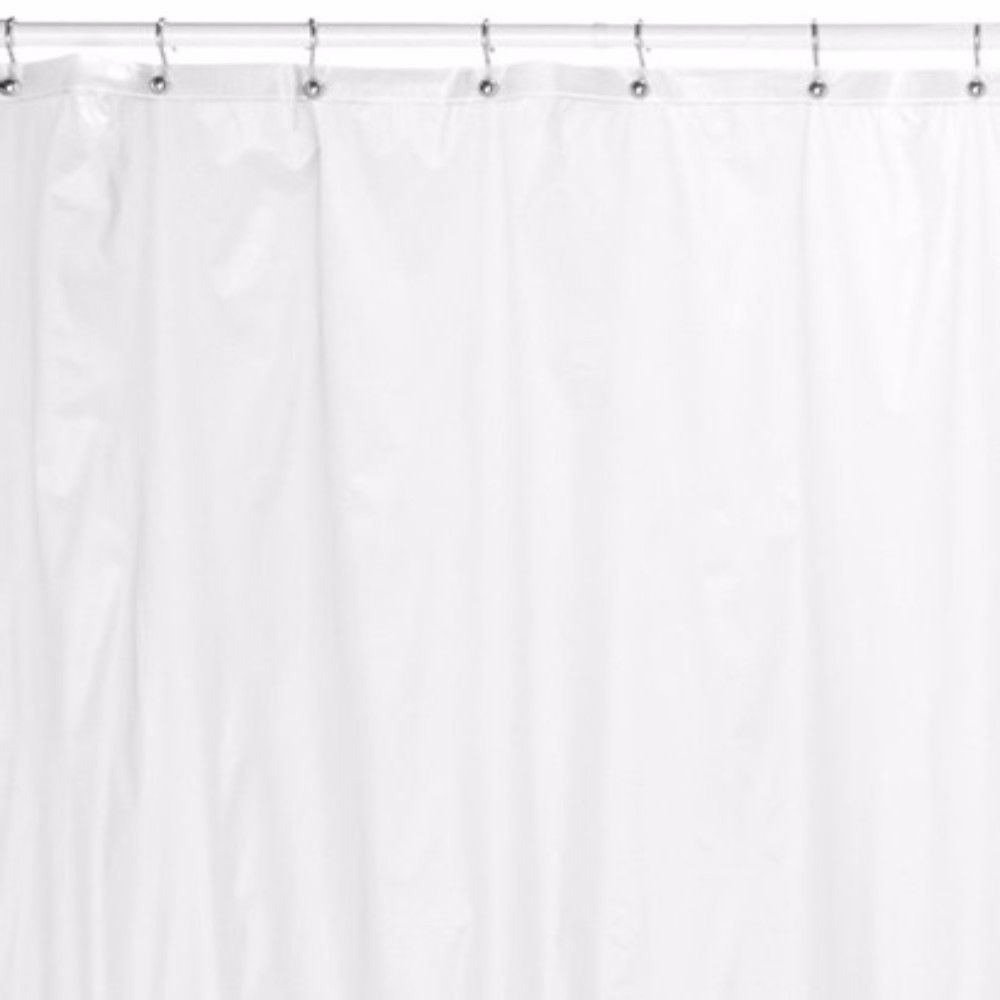 Mildew Resistant Shower Curtain LinerThis Extra Heavy Gauge Vinyl Liner Has A Lifetime Anti Resistance Treatment Reinforced Mesh Header And