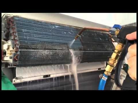 Hydrokleen Air Conditioner Clean Demonstration Youtube With