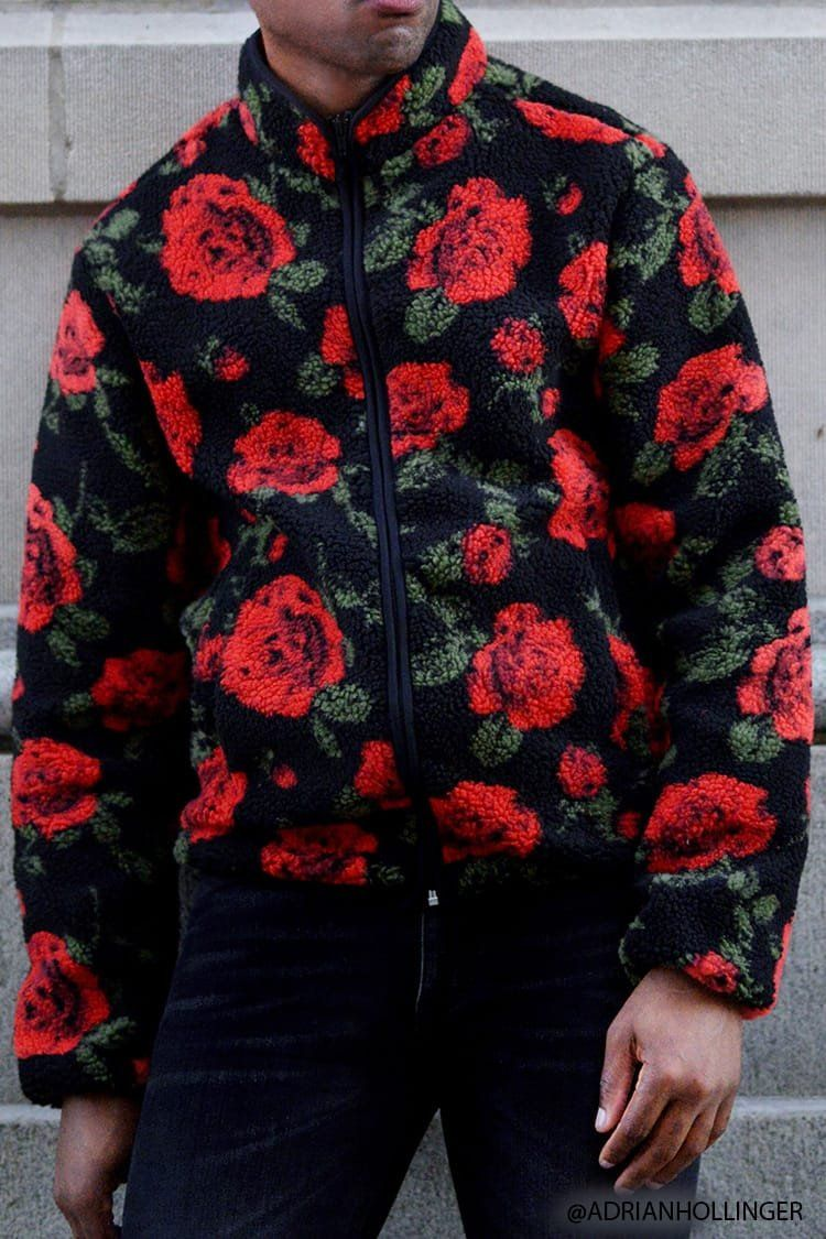 be3484a5276 Product Name Floral Fleece Jacket