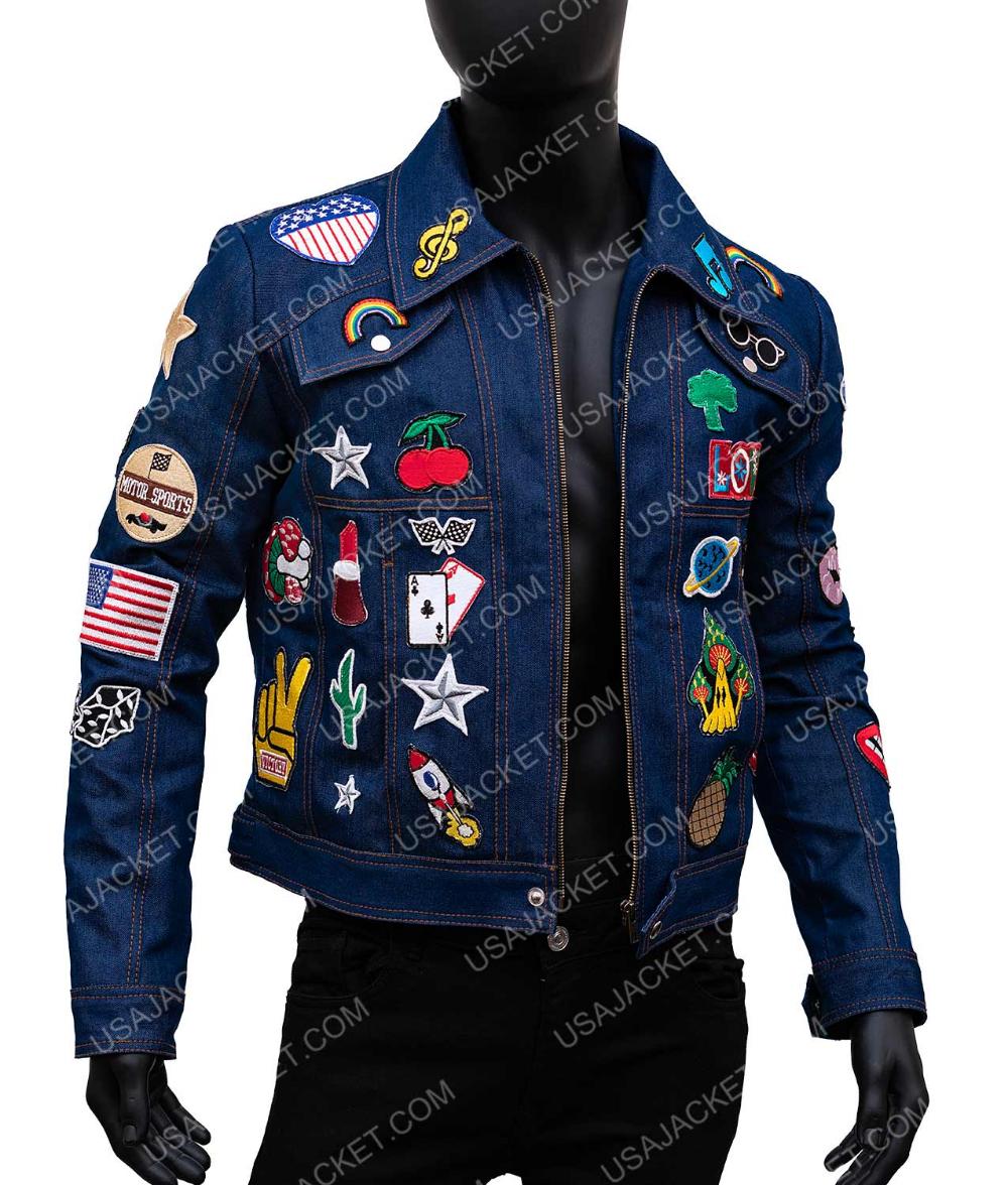Rocketman Elton John Denim Jacket With Patches Denim Jacket Patches Jackets Denim Jacket [ 1176 x 1000 Pixel ]
