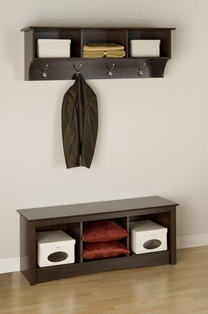 Amazon Com Prepac Sonoma Espresso 2 Piece Entryway Set Furnitureanddecor Entryway Wall Shelf Entryway Furniture Prepac
