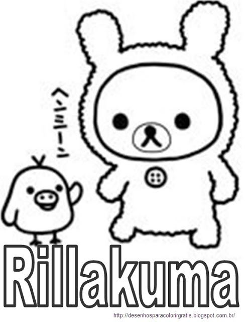 for Rilakkuma coloring pages