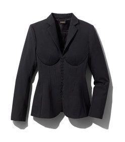 la perla black wool corset jacket with images  fashion