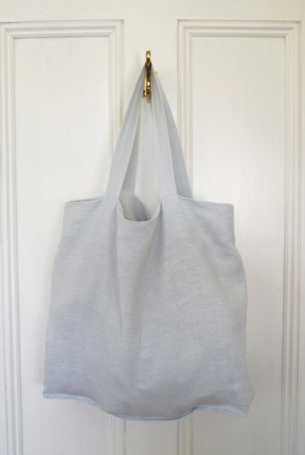 88b2eea73 100% pure linen tote bag, market bag in a beautiful silve/grey shade.  Available at etsy.com.