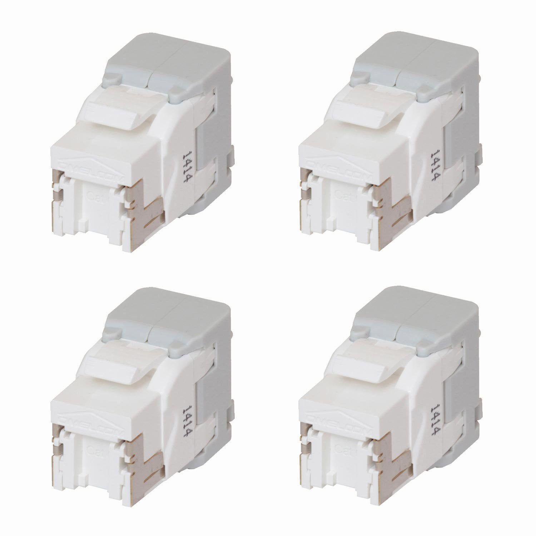 Lot De 4 Connecteurs Modulaires Rj45 Cat6 Abb Products En