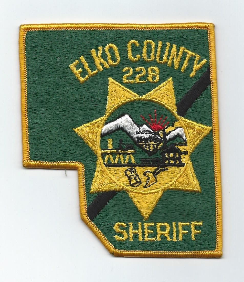 Rare vintage Elko County 228 Sheriff Nevada State Route