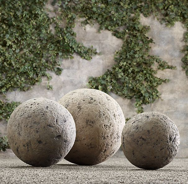 Concrete Spheres From Restoration Hardware. DIY Potential?