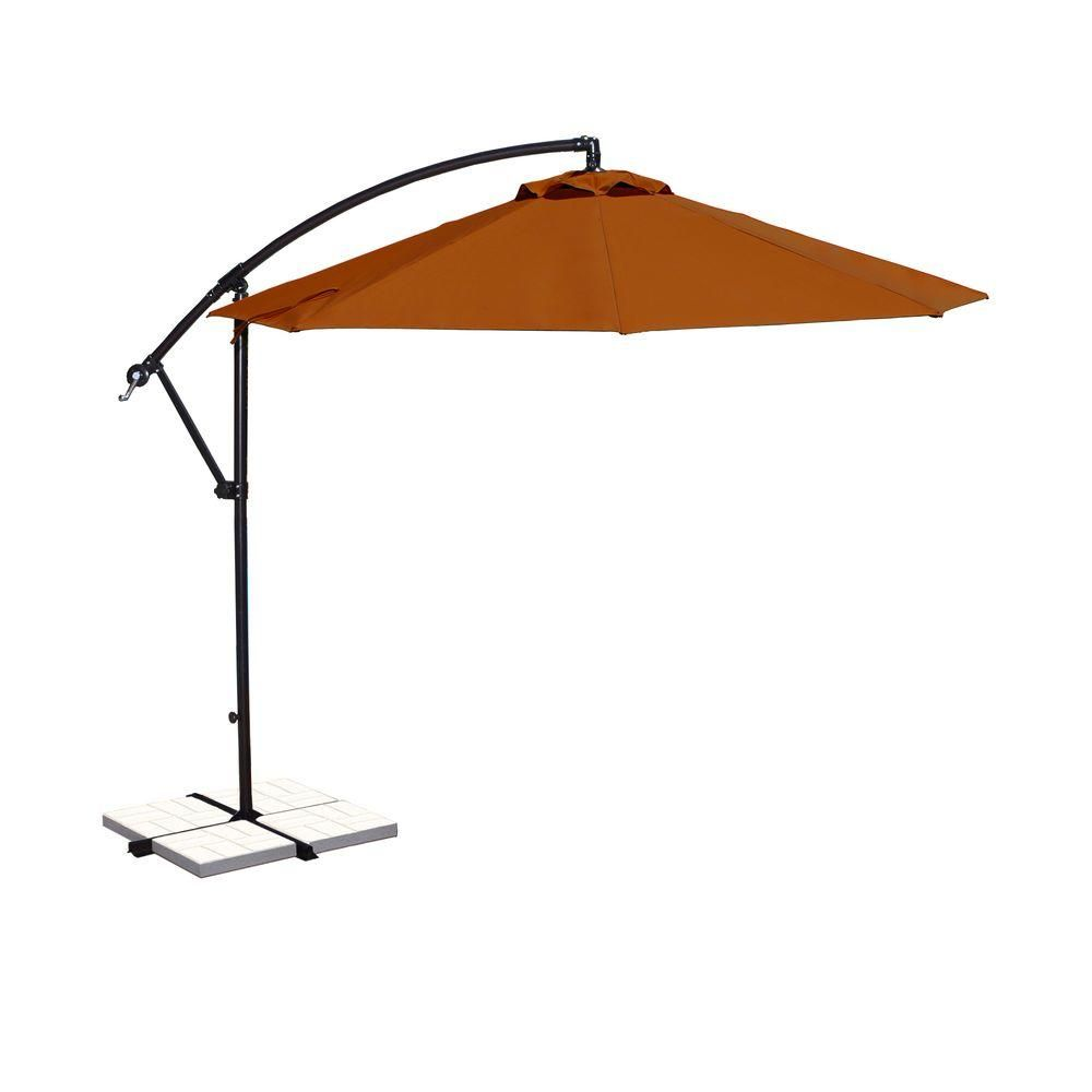Island Umbrella Santiago 10 Ft Octagonal Cantilever Patio Umbrella In Terra Cotta Sunbrella Acrylic Cantilever Umbrella Offset Patio Umbrella Cantilever Patio Umbrella