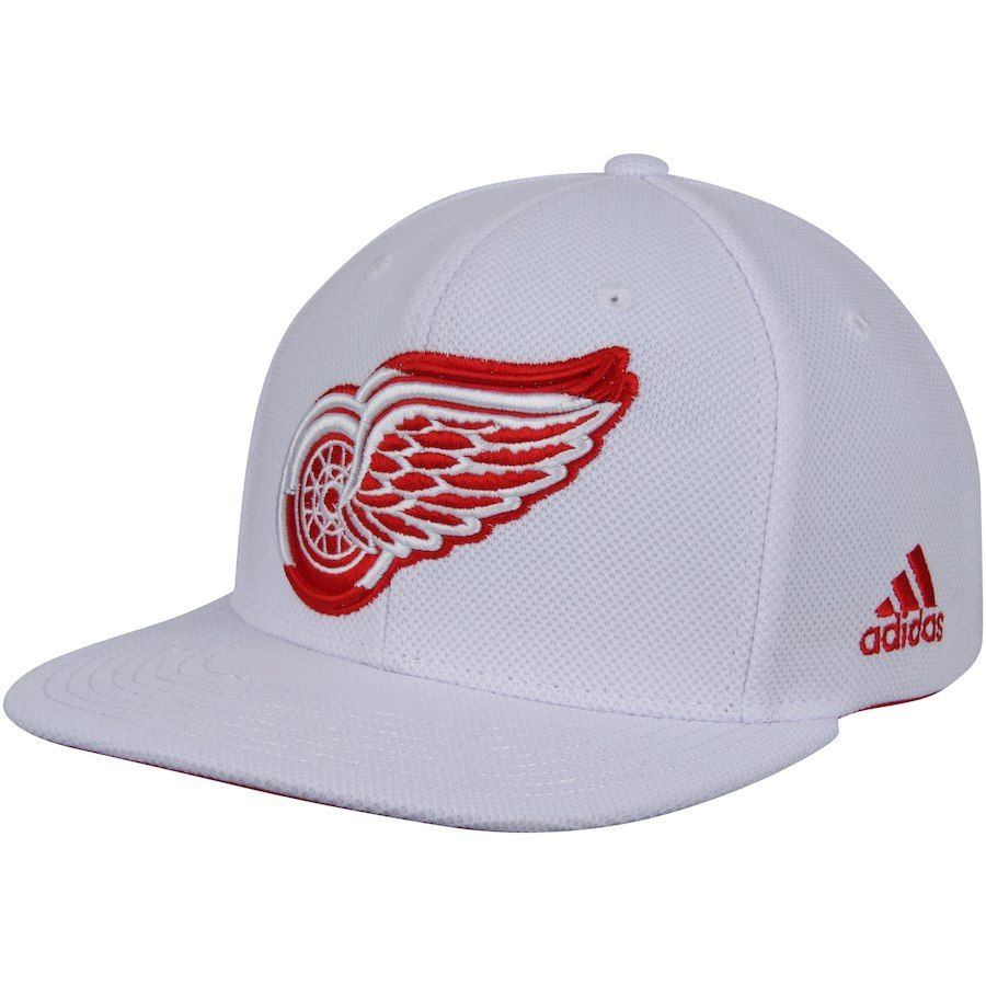 new product fd15c 39a2c Men s Detroit Red Wings adidas White Team Stripe Snapback Adjustable Hat,  Your Price   27.99
