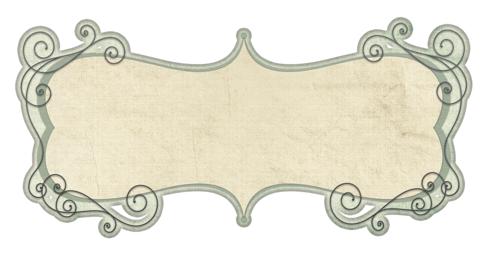 Transparent Vintage Frameborder Free CU Doodle Frame