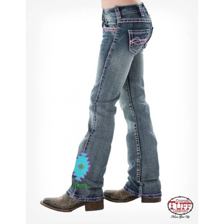 81ac79623 COWGIRL TUFF GIRLS AZTEC JEANS Tough jeans for your little cowgirl! $94.95