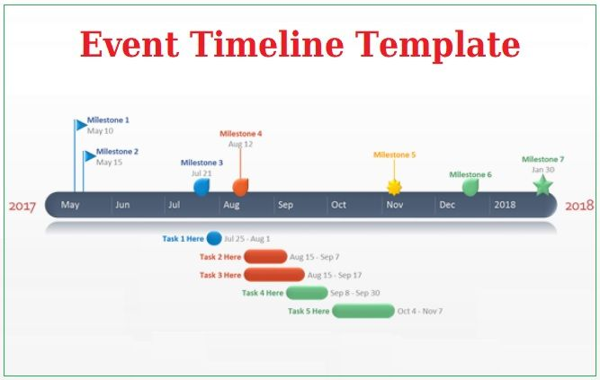 Event Timeline Template 4+ Free Printable PDF, Excel  Word